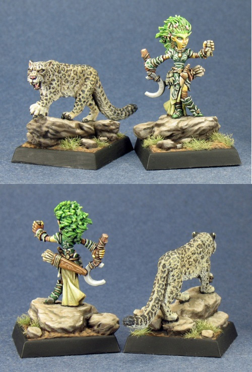 Lini Iconic Female Gnome Druid And Droogami Snow Leopard