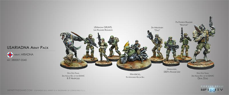 Usariadna Army Pack Box Set Free Limited Dismounted