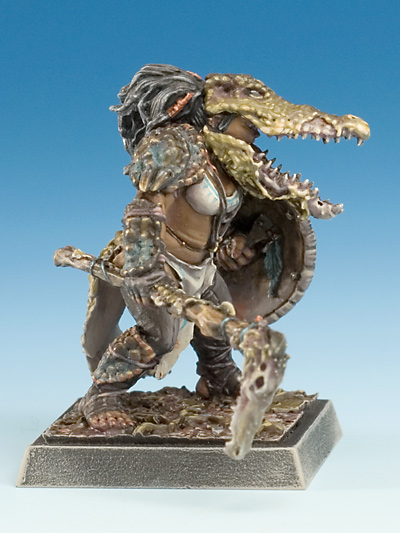 Occepa Female Amazon In Alligator Armor Amazons X1 Fig