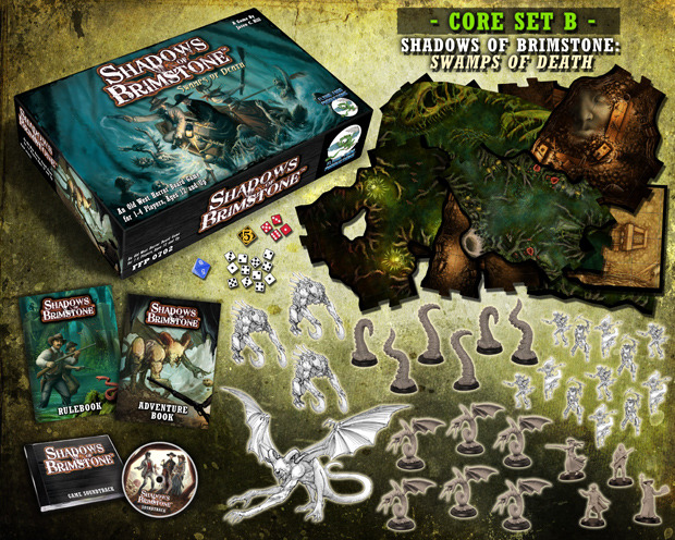 Swamps Of Death Old West Horror Core Board Game Shadows