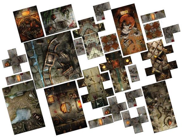 Halls Of Dolgarth Tile Pack Dungeon Saga