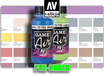 Game Air Color Paints - Vallejo!
