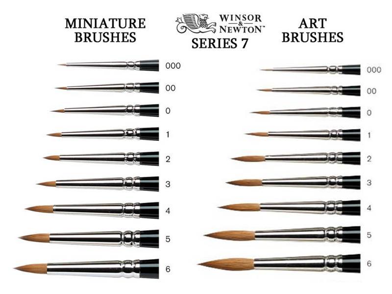 Winsor /& Newton Artists/' Kolinsky Water Colour Watercolor Sable Brush Set of 4