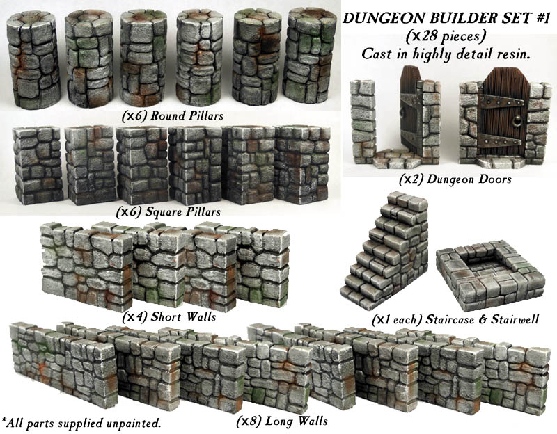 Dungeon Builder Set #1 Box Set - WarGamma (x1 set)
