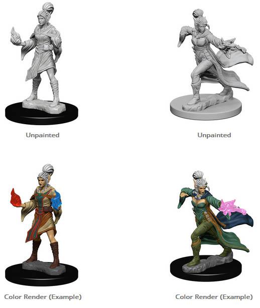 Elf Female Sorcerer - Pathfinder Battles